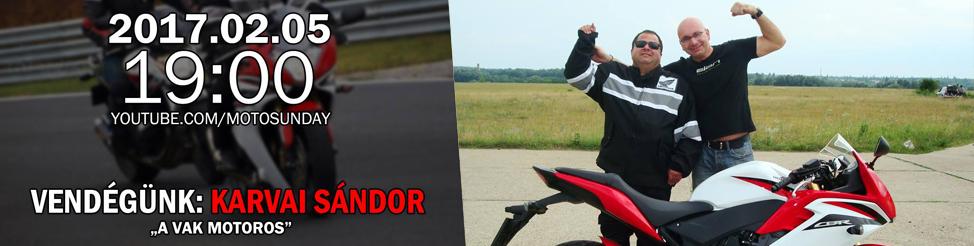 Karvai Sándor – a vak motoros