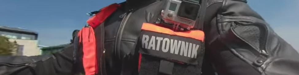 Mentőmotoros vonulás 360 fokos kamerával